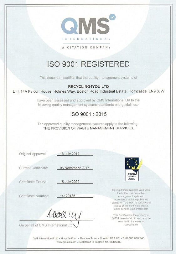ISO_9001_certificate_6.11.17-15.7.22 - Recycling4You
