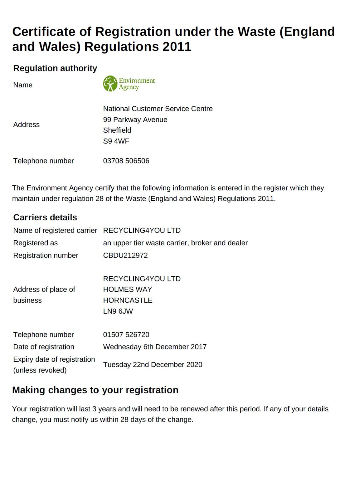 carriers_licence_2020 - Recycling4You